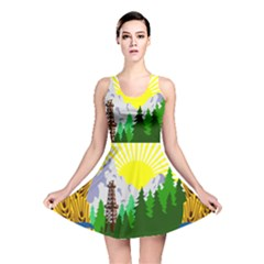 National Emblem Of Romania, 1965 1989  Reversible Skater Dress