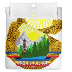 National Emblem Of Romania, 1965 1989  Duvet Cover Double Side (queen Size)