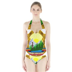 National Emblem Of Romania, 1965 1989  Halter Swimsuit