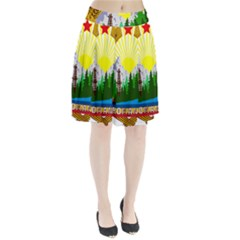 National Emblem Of Romania, 1965 1989  Pleated Skirt