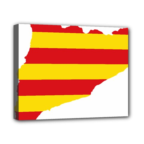 Flag Map Of Catalonia Canvas 10  X 8