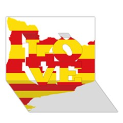 Flag Map Of Catalonia Love 3d Greeting Card (7x5)