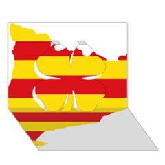 Flag Map Of Catalonia Clover 3d Greeting Card (7x5)