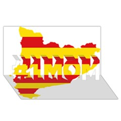 Flag Map Of Catalonia #1 Mom 3d Greeting Cards (8x4)