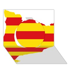 Flag Map Of Catalonia Circle 3d Greeting Card (7x5)