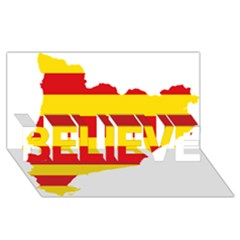 Flag Map Of Catalonia Believe 3d Greeting Card (8x4)