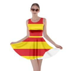 Flag Map Of Catalonia Skater Dress