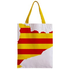 Flag Map Of Catalonia Zipper Classic Tote Bag