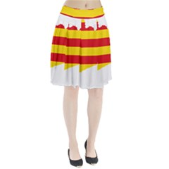 Flag Map of Catalonia Pleated Skirt