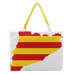 Flag Map of Catalonia Medium Tote Bag