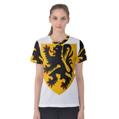 Flanders Coat Of Arms  Women s Cotton Tee
