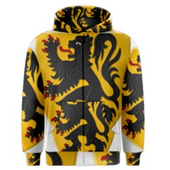 Flanders Coat Of Arms  Men s Zipper Hoodie