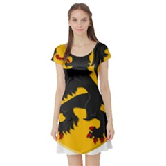 Flanders Coat Of Arms  Short Sleeve Skater Dress