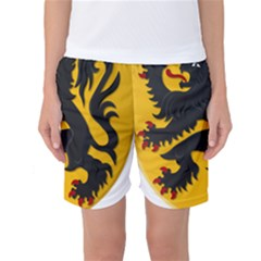 Flanders Coat Of Arms  Women s Basketball Shorts