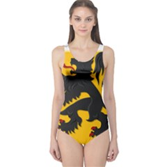 Flanders Coat Of Arms  One Piece Swimsuit