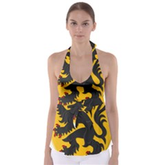 Flanders Coat Of Arms  Babydoll Tankini Top