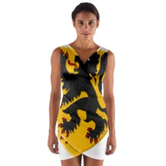 Flanders Coat Of Arms  Wrap Front Bodycon Dress