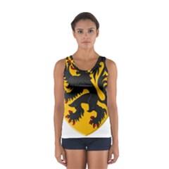 Flanders Coat Of Arms  Women s Sport Tank Top