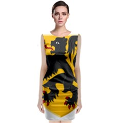 Flanders Coat Of Arms  Classic Sleeveless Midi Dress