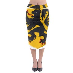 Flanders Coat Of Arms  Midi Pencil Skirt