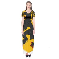 Flanders Coat Of Arms  Short Sleeve Maxi Dress