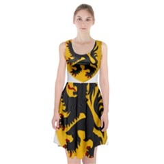 Flanders Coat Of Arms  Racerback Midi Dress