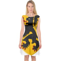 Flanders Coat Of Arms  Capsleeve Midi Dress