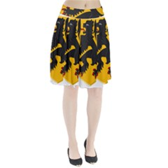 Flanders Coat Of Arms  Pleated Skirt