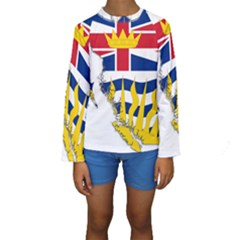 Flag Map Of British Columbia Kids  Long Sleeve Swimwear