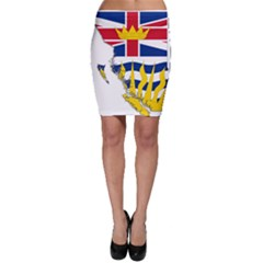 Flag Map Of British Columbia Bodycon Skirt