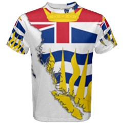 Flag Map Of British Columbia Men s Cotton Tee