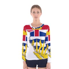 Flag Map Of British Columbia Women s Long Sleeve Tee