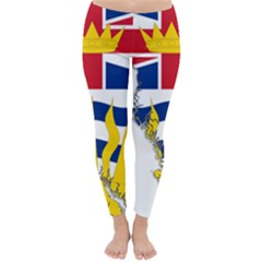 Flag Map Of British Columbia Winter Leggings