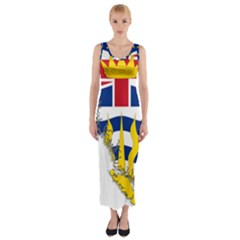 Flag Map Of British Columbia Fitted Maxi Dress