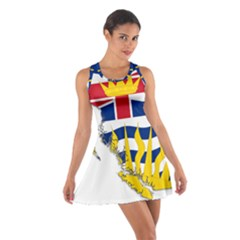 Flag Map Of British Columbia Cotton Racerback Dress