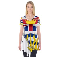 Flag Map of British Columbia Short Sleeve Tunic