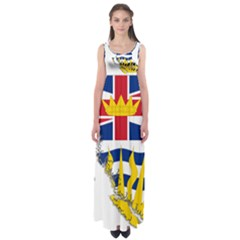 Flag Map Of British Columbia Empire Waist Maxi Dress
