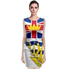 Flag Map Of British Columbia Classic Sleeveless Midi Dress