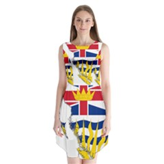 Flag Map Of British Columbia Sleeveless Chiffon Dress