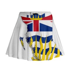Flag Map Of British Columbia Mini Flare Skirt