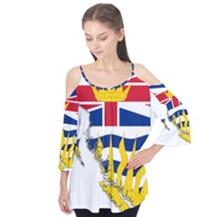 Flag Map Of British Columbia Flutter Tees
