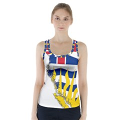 Flag Map of British Columbia Racer Back Sports Top