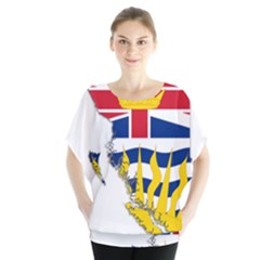 Flag Map Of British Columbia Blouse