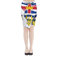 Flag Map Of British Columbia Midi Wrap Pencil Skirt