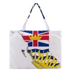 Flag Map Of British Columbia Medium Tote Bag