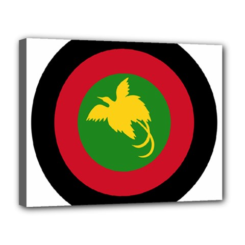 Roundel Of Papua New Guinea Air Operations Element Canvas 14  X 11