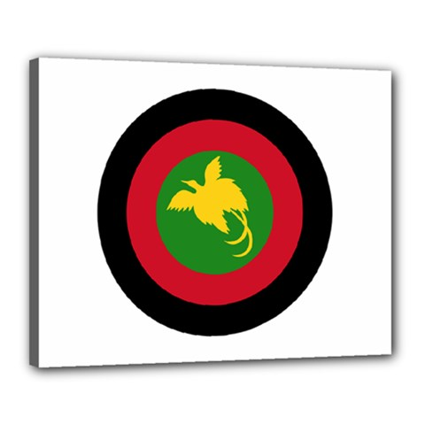 Roundel Of Papua New Guinea Air Operations Element Canvas 20  X 16