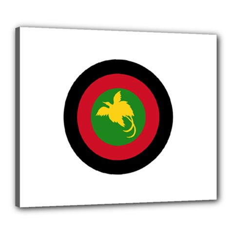 Roundel Of Papua New Guinea Air Operations Element Canvas 24  X 20