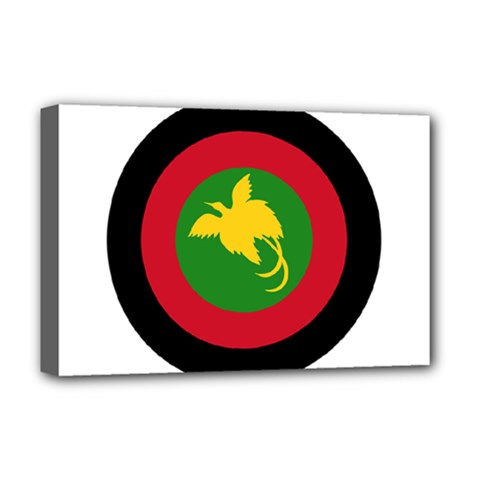 Roundel Of Papua New Guinea Air Operations Element Deluxe Canvas 18  X 12