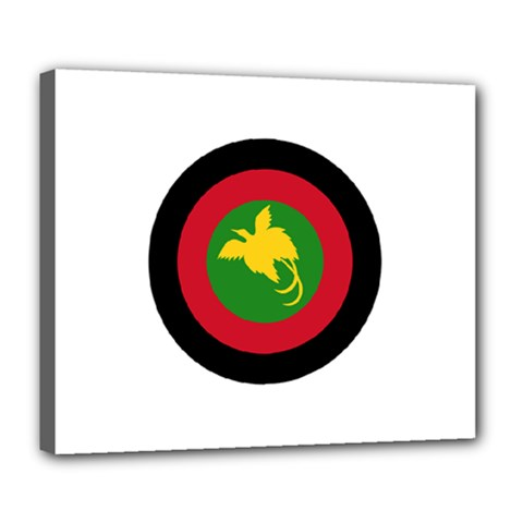 Roundel Of Papua New Guinea Air Operations Element Deluxe Canvas 24  X 20